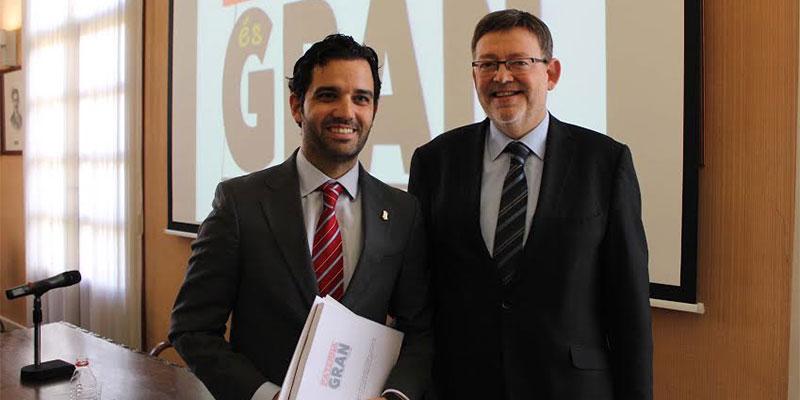 Sagredo y Puig durante la presentación de Paterna Gran Ciudad
